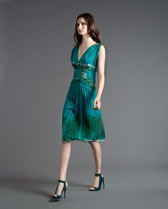 Tie-dye  on an elegant chiffon dress      Resort 2013  AlbertaFerretti
