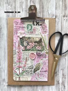 Journal Paper, Scrapbook Journal, Journal Notebook, Junk Journal, Journals, Clipboard Art, Scrap Books, Glue Book, Mixed Media Journal