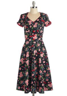 $94.99 ~ Come Again Swoon Dress. #black #modcloth
