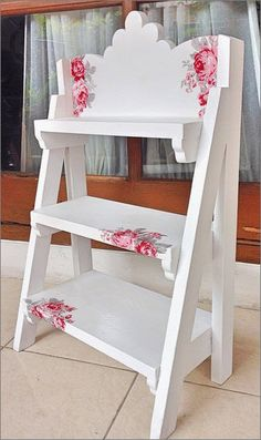 Shabby chic Ladder for booking order : BBM :  leatique Line : leatique WA : 081234503084