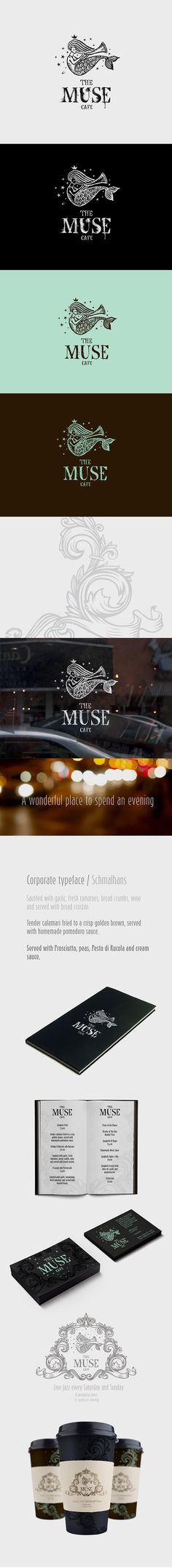 ru_identity: The Muse cafe / Фирменный стиль, логотип. lovely logo #identity #packaging #branding PD