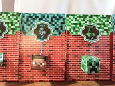 Minecraft Birthday Party Ideas | Party Favour Bags