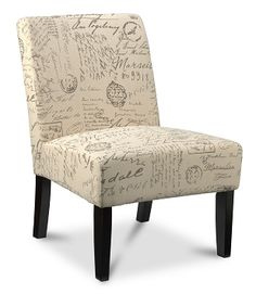 Living Room Furniture-Scroll Accent Chair