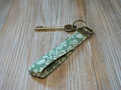Cottage Chic Keychain Fob - Floral Keyring - Rustic Chic Key Chain - Wristlet Key Ring - Personalized Key Fob by theWatermelonDesign on Etsy