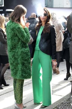green street style: Viviana and Aurora