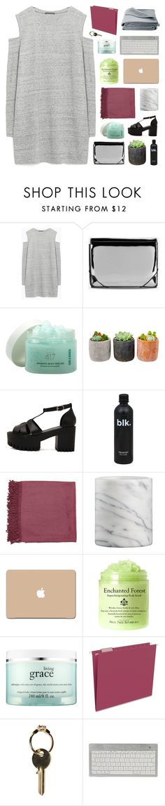"""""""LOVING HIM IS RED"""" by dreams-of-pxrxdise ❤ liked on Polyvore featuring Zara, MM6 Maison Margiela, Minus 417, Shop Succulents, Surya, Crate and Barrel, 3M, philosophy, Smead and Maison Margiela"""