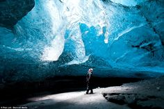 Rob Lott took these amazing photographs of the Vatnajokull Glacier in Iceland. The caves look like giant frozen waves but water actually moves down the glacier very slowly...