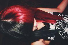 black and red split