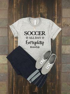 e9d5081fb38 Soccer All Day Everyday #momlife jersey t-shirt- Trending shirt- soccer mom