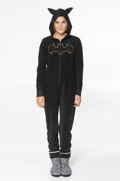 Black Batman fleece onesie - PJs & Robes - Clothing   Ardene Official Online Store