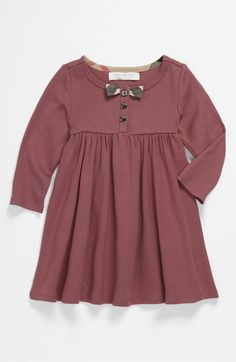 Burberry 'Dido' Bow Trim Dress (Toddler) available at Nordstrom
