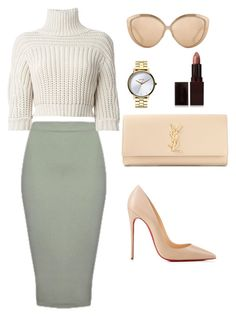 """Untitled #154"" by amoney-1 ❤ liked on Polyvore featuring moda, Brunello Cucinelli, Yves Saint Laurent, Nixon, Laura Mercier, Linda Farrow e Christian Louboutin"