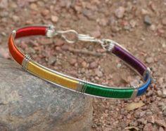 8f05cf23a7c78 Rainbow Gay Lesbian Pride Bangle Bracelet LGBT GLBT Pride Bracelet