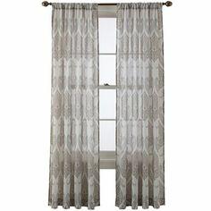 28 royal velvet ravenna rod pocket sheer panel jcpenney window