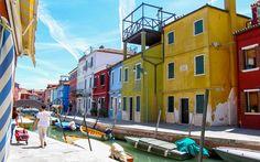 #Kanäle der #Insel #Burano bei #Venedig © Petra Gschwendtner Petra, Street View, Venice Italy, Explore, Island, World