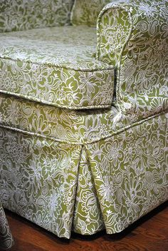 Club chair Slipcover by The Slipcover Girl, via Flickr