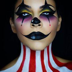 Bilderesultat for harlequin scary makeup