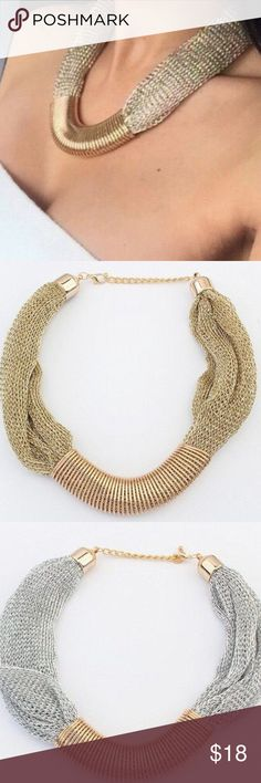 GOLD or SILVER Mesh Necklace GOLD or SILVER Mesh Necklace Jewelry Necklaces