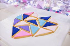 Little Big Company | The Blog: Perfectly Sweet's Pastel Geometric Wedding Table At A Darling Affair. Geometric cookie puzzle