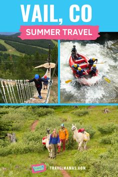 14 Things to do in Vail, CO. Vail is well known as a winter travel destination, but summer in Colorado is equally fun and beautiful! There are so many things to do in Vail - wander through Vail. Rafting In Colorado, Road Trip To Colorado, Vail Colorado, Colorado Mountains, Winter Travel, Summer Travel, Travel With Kids, Family Travel, Family Vacation Destinations