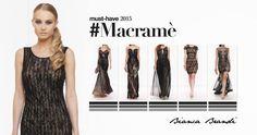 #Musthave... #Macramè un merletto a nodi e intrecci. Spesso, abbinato al pizzo e al tulle, si declina nella sua variante più romantica. #Look che si ispirano agli anni '70 per #outfit #romantici e #femminili   #donne #femminilita #fashionaddicted #moda #modadonna #abbigliamento #clothing #atelier #stile #style #look #outfit #eveninggown #dress #dresses