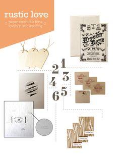rustic wedding paper essentials #vintage #invitation #letterpress