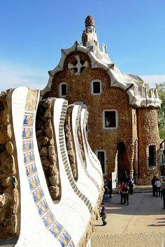 Parque Güell, La escalinata, Gaudí, Barcelona