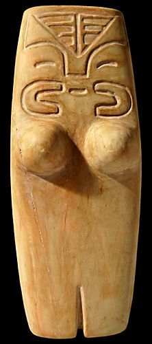ANCESTRAL FEMALE FIGURE Valdivia Culture - Ecuador 3500 - 2000 BC Limestone - William Siegal Gallery