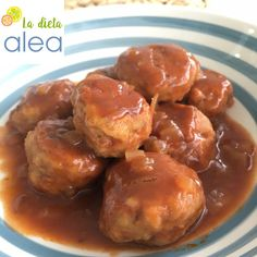 La dieta ALEA Albóndigas de pescado con salsa como segundo plato en comida o plato único cena