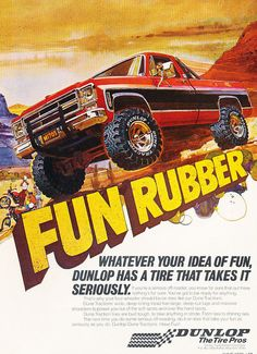1978 Chevy Truck Dunlop Tires - Original Car Advertisement Print Ad J163