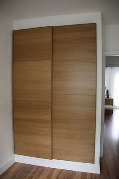 Love how the closet appears raised- I like it to be fully surrounded in moulding, even at the bottom of the closet. Wardrobe Cabinet Bedroom, Bedroom Cupboard Designs, Wardrobe Design Bedroom, Bedroom Cupboards, Closet Bedroom, Baby Room Furniture, Bedroom Furniture Design, Bedroom Decor, Condo Design