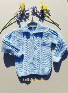 This item is unavailable Knitted Baby Cardigan, Cable Cardigan, Knitted Hats, Babies Fashion, Toddler Fashion, Childrens Gifts, Toddler Gifts, Kids Clothes Uk, Baby Dungarees