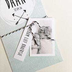 Geboortekaartje met labeltjes... #broertje #zusje www.zojoann.nl #geboortekaartje #birthannouncement #geboortekaartjes #baby #newborn
