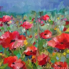 """Daily Paintworks - """"Poppy Blessings"""" - Original Fine Art for Sale - © Anne Ducrot"""