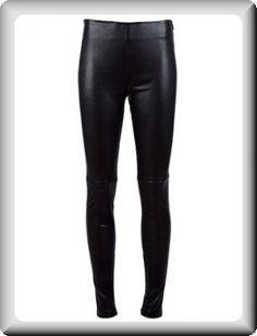 balenciaga leather pants   Balenciaga Women's Black Leather Skinny Pants at ShopFashionDesigner