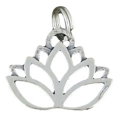 Sterling Silver Charm Lotus Flower Yoga Comes with a Split Ring -- For more information, visit image link.