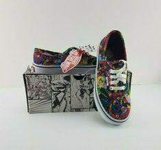 e00ead8545 New Vans AUTHENTIC Marvel Limited Edition Multi White Kids Shoes 2 Cartoon   VANS