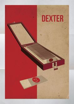 "Minimalist trophy blood slide box. | 25 Pieces Of ""Dexter"" Fan Art Worthy Of A Final Season Tribute"
