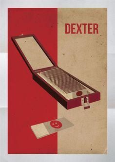 "trophée minimaliste boîte de lame de sang. | 25 Pieces Of ""Dexter"" Fan Art Worthy Of A Final Season Tribute"