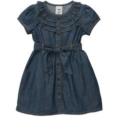 LOVE this denim dress...perfect for fall, winter, and into spring!!  #OshKoshB2S #ad