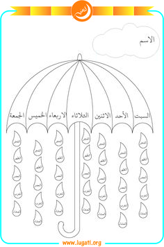 Weekly prayer program Includes the days of the week and the five required prayers for each day.The child paints the day and then the prayer he performed on this day. Cutting Activities For Kids, Life Skills Activities, Kids Learning Activities, Math For Kids, Teaching Kids, Islamic Books For Kids, Islam For Kids, Alphabet Activities Kindergarten, Arabic Alphabet For Kids