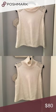 Helmut Lang cozy sleeveless turtleneck sweater. Brand new Helmut Lang sleeveless sweater with shoulder detail. Softest fabric! Helmut Lang Sweaters