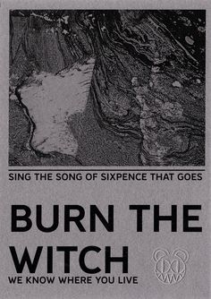 """Radiohead """"Burn The Witch"""" Pamphlet (edited)"""