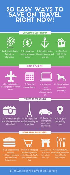 There are tons of ways to save on travel these days! Here are 20 effective and easy methods that could save you a bundle on your next trip!