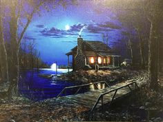 Cabin Decor - LED Canvas Art Enjoy this light up canvas wall print when the lights are out in your cabin! Perfect use as a night light with our on/off function to illuminate the LED lights behind the