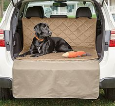 The newest addition to our travel line, our product developers designed this smart cargo protector to keep your dog comfortable while protecting your cargo area from dirt, moisture, and dog hair and protecting your bumper as your dog gets in and out of the vehicle.