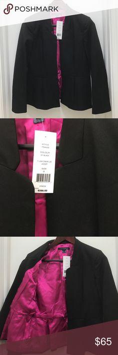 NWT French Connection satin lined blazer French Connection blazer with hot pink satin lining. Retails $288 and is NWT French Connection Jackets & Coats Blazers