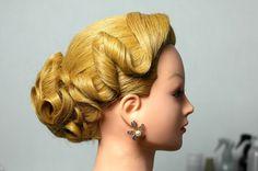 Вечерняя прическа на длинные волосы. Wedding prom updo, hairstyles for l...