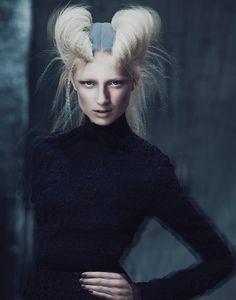 Andrew Yee - hair:creative direction Antoinette Beenders (Aveda Global Creative Director) - hair colour Ian Michael Black - makeup Nives Riddles - stylist Damien Fox