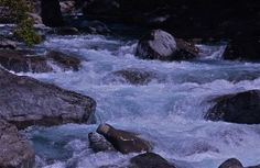 Rushing waters two; Fiordland National Park, South Island, New Zealand.  January 2014.